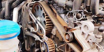 Verschlissener Zahnriemen Peugeot PSA PureTech motoren